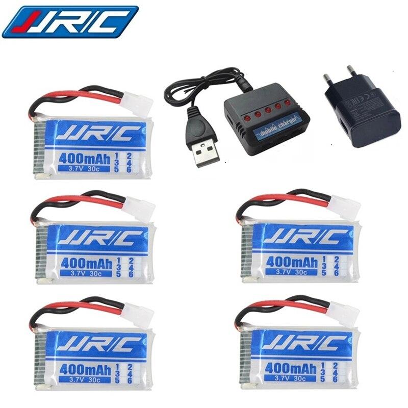 Batería Lipo 3,7 v 400mAh 30C para JJRC H31/JJRC H43hw Drone batería de litio JJRC H31 Lipo batería + (5in1) cargador de cable 3/4/5 uds.