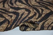 free ship 100% viscose jacquard fabric Leopard zebra print weave less shine