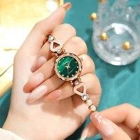 2021new fashion high end watch for women diamond mirror top brand luxury tungsten steel waterproof quartz clock women wristwatch