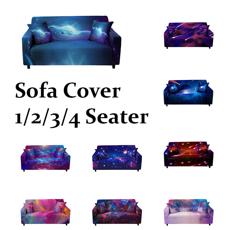 Эластичный чехол для дивана 3D Galaxy Meteor, угловой чехол для дивана, секционный чехол для дивана, полностью закрытый чехол для дивана чехол