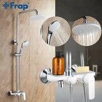 Frap robinet de bain-douche  robinet de douche pluie pomme de douche pulverisateur a main salle de bains  ensemble de systeme de douche  robinet melangeur Torneira