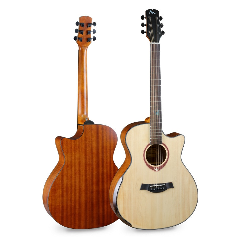 free shipping 38 inch parlor guitar solid wood acoustic guitar flame maple parlor body guitar aaa quality acoustic guitar 41 Inch Folk Guitar Picea Asperata Solid Guitar Rosewood Fingerboard Concert Guitar 6-String Acoustic Guitar AGT191