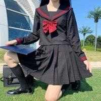 japanese cute preppy style sailor jk uniform soft girl kawaii student long sleeve shirt women autumn sweet pleated skirt outfit