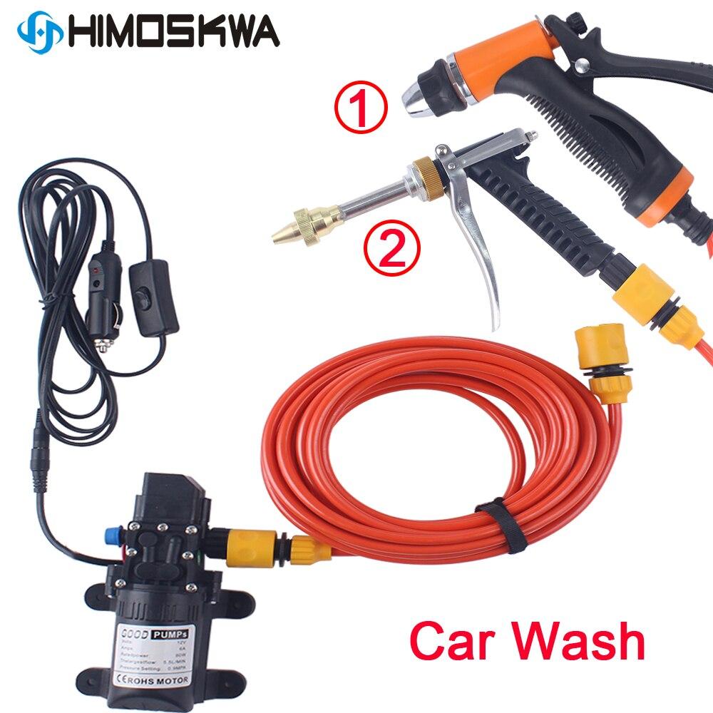 12 فولت آلة غسل سيارات بندقية مضخة منظف بالضغط العالي العناية بالسيارات غسالة محمولة تنظيف السيارات الكهربائية