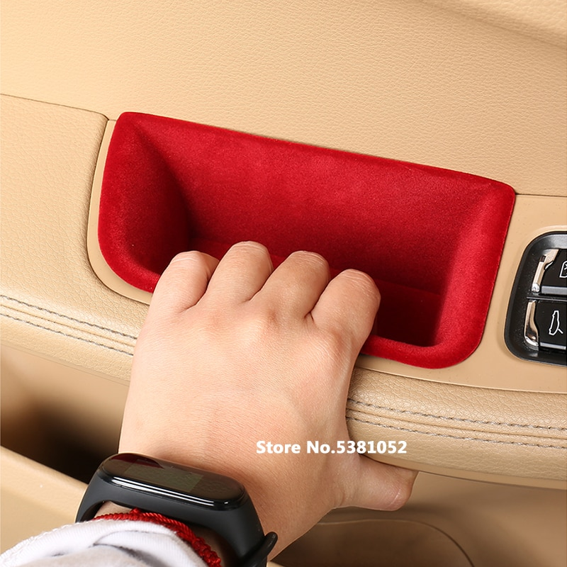 Car Door Handle Armrest Storage Box For Porsche Panamera 2017 2018 2019 2020 2021 Accessories Container Holder Tray Car Styling enlarge