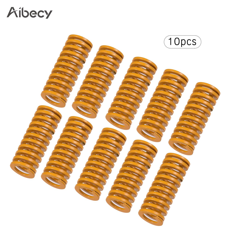 Aibecy molas de molde amarelo cama aquecida compressão morrer primavera 10mm od 20mm comprimento compatível para creality CR-10 impressora 3d