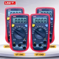 digital multimeter uni t ut136a ut136c ut136d acdc current voltage resistance frequency tester diode continuity buzzer test