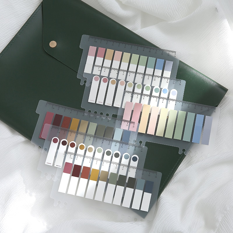 MyPretties 200 hojas/paquete Morandi Color Memo Pad Set Bullet diario nota adhesiva Pad extraíble etiqueta Post-it papelería