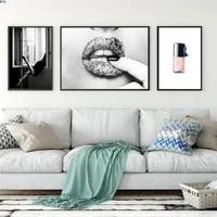 Affiche de toile de femme  peinture dart mural a la mode  image moderne de femme sexy sur le mur  decoration de la maison