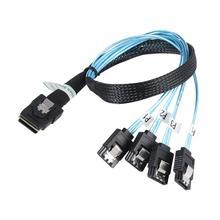 Mini SFF-8087 SAS interne professionnel 36Pin à 4 SATA 7Pin câble de connecteur SAS SATA câble de répartiteur pour données de séparation de PC bricolage