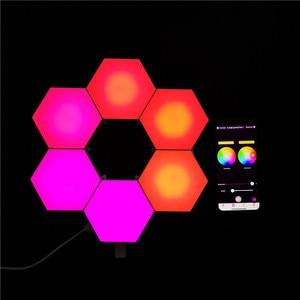 Smart USB Home Decor APP Bluetooth Quantum Combination Splice Light Honeycomb Aisle Bedroom Background Splicing LED Wall Light