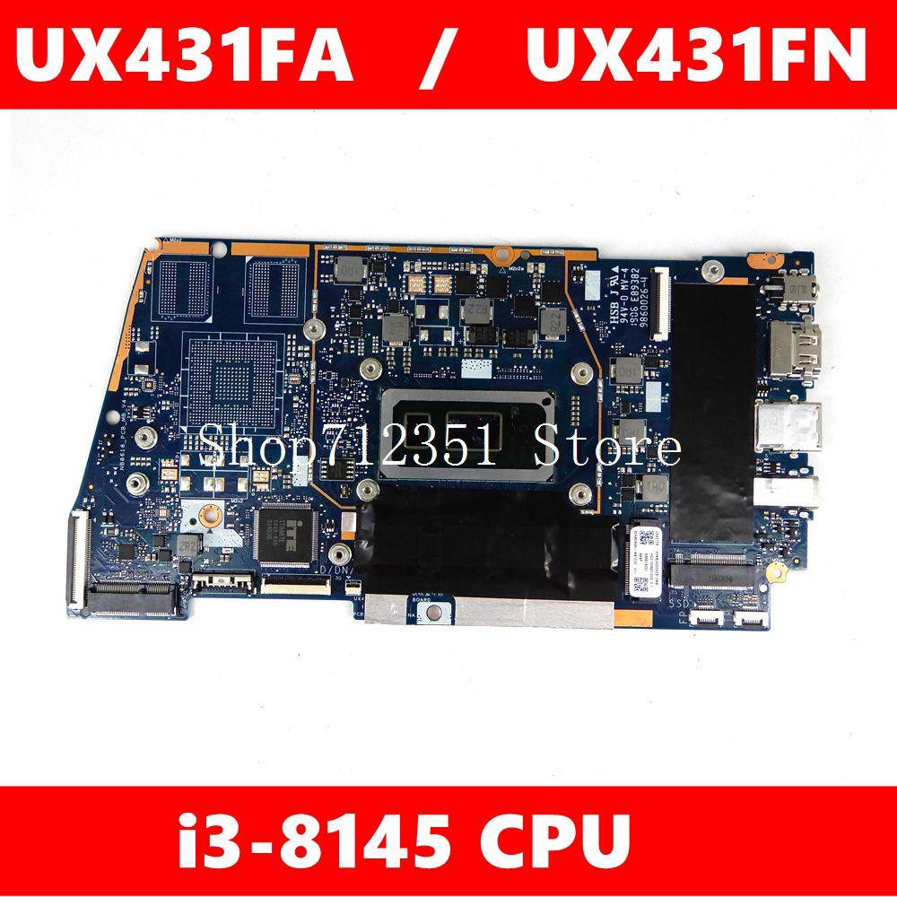 UX431FA اللوحة الرئيسية REV2.0 ل UX431FA UX431FN I3-8145 وحدة المعالجة المركزية اللوحة المحمول 100% اختبار العمل