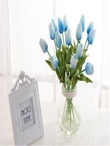 20Pcs/Lot Tulips Artificial Flowers Pu Wedding Decoration Bouquet Real Touch Artificial Flower For Home Decor Flowers Wreaths