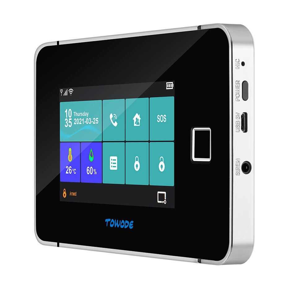 TOWODE WIFI GSM Tuya Smart Alarm System Home Security 4.3 Inch Full Color Touch Screen Panel Built-in Back-up Battery Alarm Kit enlarge