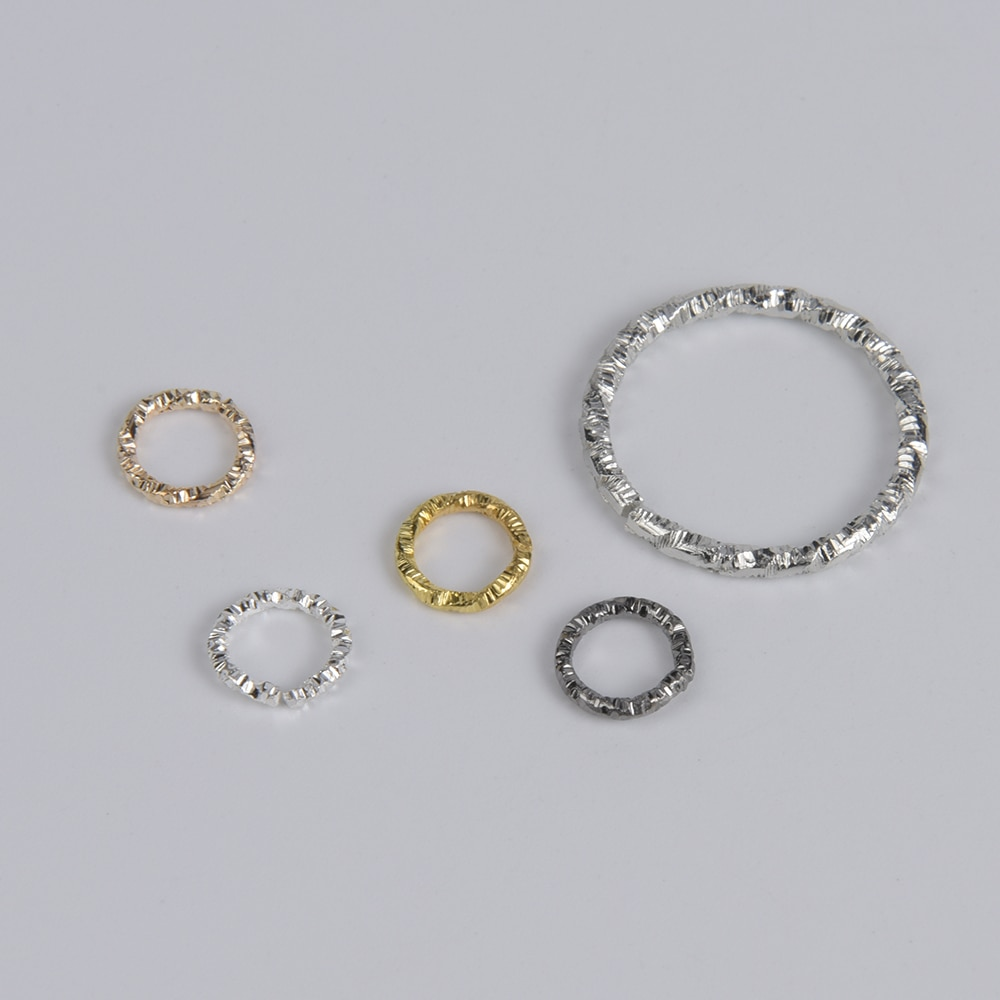 100Pcs/Lot Gold Silver Round Jump Rings Twisted Open Split  Rings Connectors For Diy Jewelry Making Findings Supplies 1 box 4 5 6 7 8 10mm jewelry findings open jump split rings connector for diy jewelry findings making rhodium gold silver color