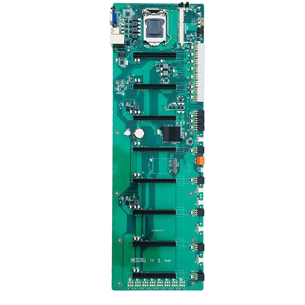 B85 في خط BTC متعددة الرسومات 8 بطاقة اللوحة الأم لبيتكوين ، العملة الرقمية العملة الافتراضية التعدين أجهزة الكمبيوتر اللوحة الأم