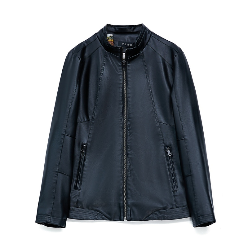 جاكيت رجالي جلد صناعي من جلد الغزال ، معطف لفصلي الربيع والخريف ، ملابس خارجية ، مقاس كبير LF2043
