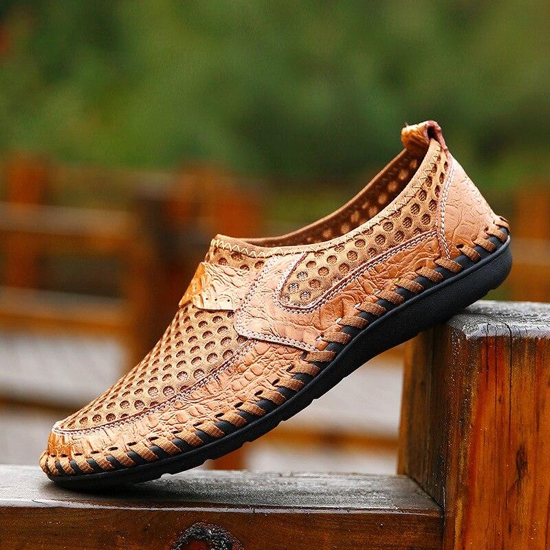 Мужская обувь Merkmak, черная повседневная обувь из дышащей сетки, мягкая, комфортная, для лета, 2020