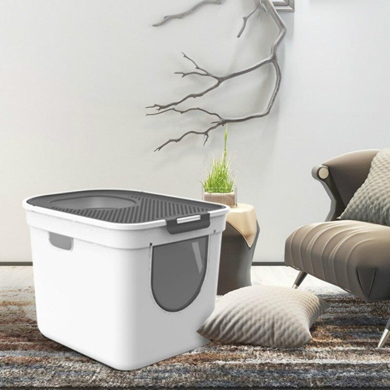 Kunststoff Bettpfanne Wurf Box Katzen Wc Haustiere Wurf Sand Box Kleine Toiletten Sauberes Produkt Bassine Plastique Haustiere Liefert AA60CL