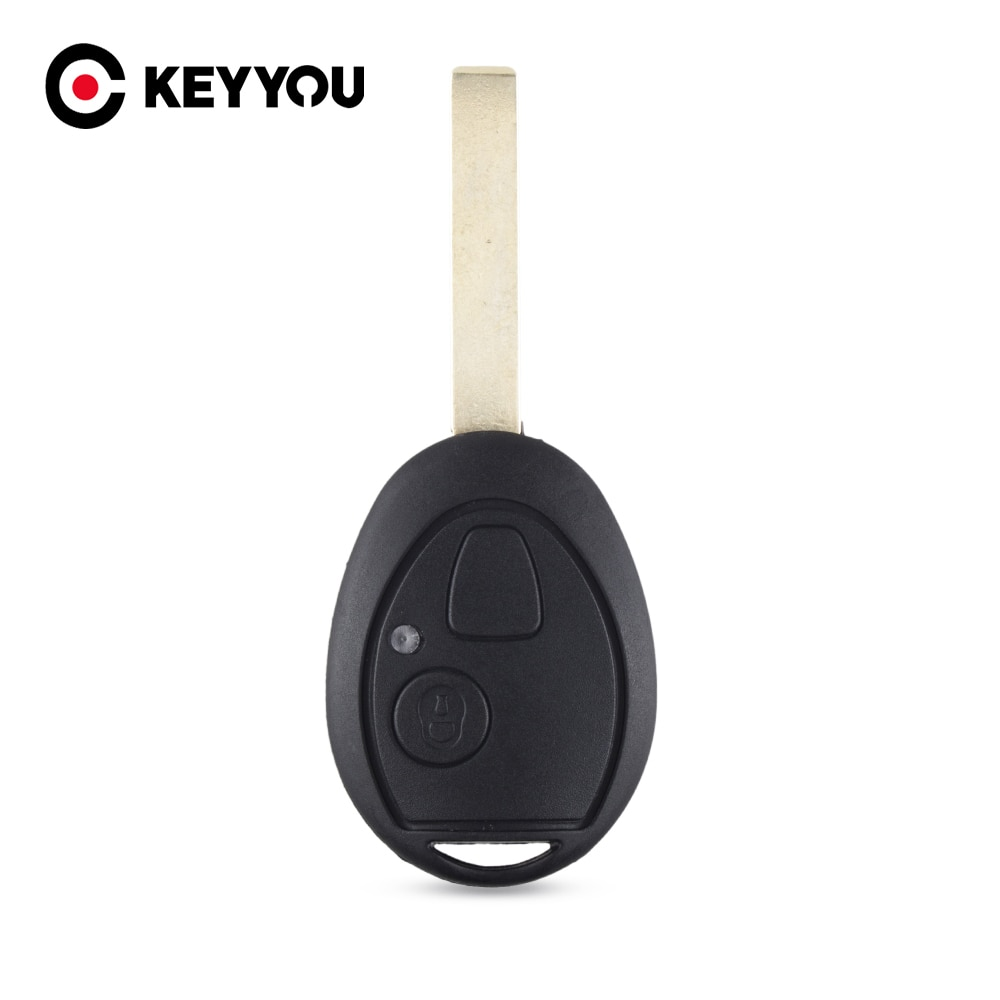 Keyyou 2 botões remoto carro chave fob caso escudo para land rover discovery 75 zt para a descoberta td5 para bmw mini cooper r53 r50