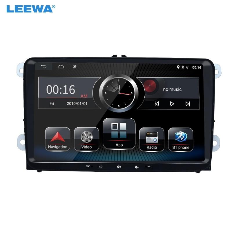 "LEEWA 9 ""Ultra delgado del coche de Android 8,1 Quad Core reproductor de medios con GPS Navi Radio para VW Golf/5/6/Polo/Passat/Jetta/Tiguan/Touran"
