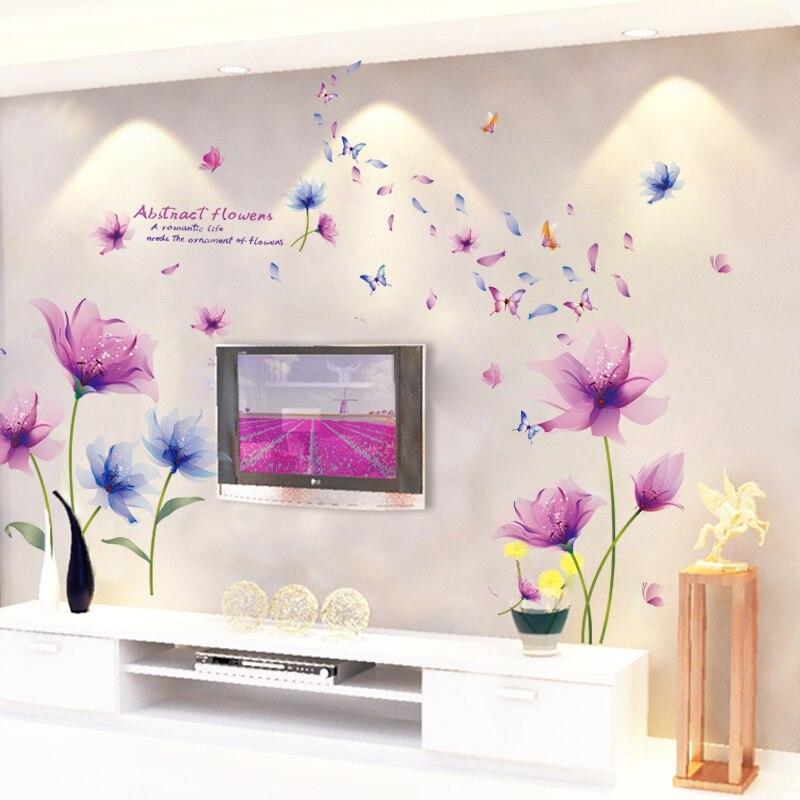 El Fondo de TV de la sala de estar pared decorativa bi zhi lazo de flores 3D Adhesivo de pared tridimensional acogedor dormitorio Wal