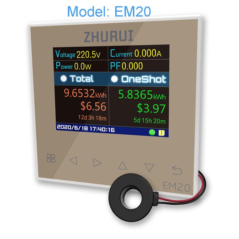 EM20/EM20-ER مقياس الطاقة/40/60/80/120A/قياس المنزل/السلطة متر/العاكس/الكهرباء الكهربائية