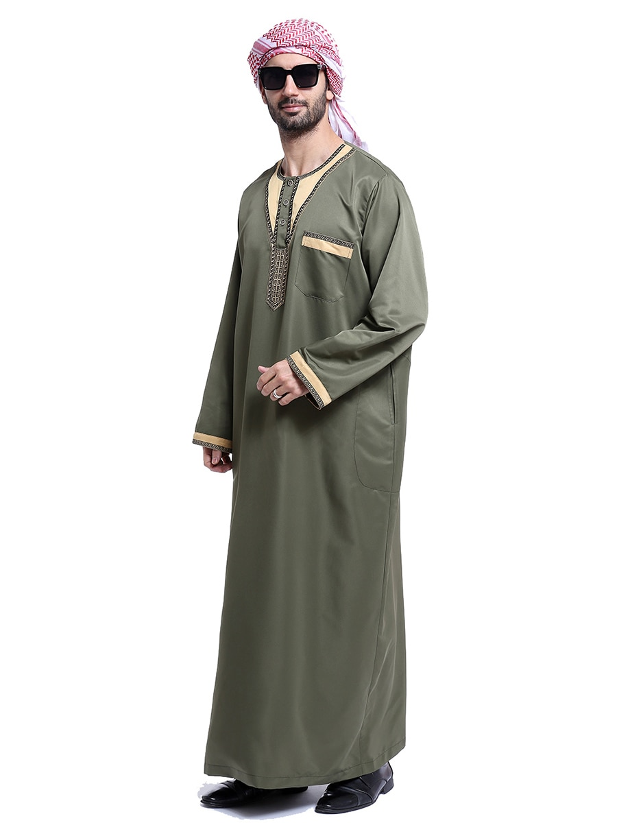 Ropa de Arabia Saudita, Kurta, hombres, Abaya, Dubai, manga larga, Saud Thobe, Tesettur, Elbise, árabe, Djellaba, hombre, musulmán, caftán para niños