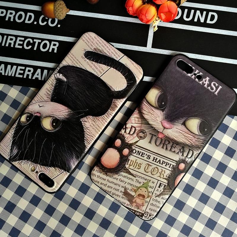 Kawaii anime adorável gato caso de telefone para iphone capa xs max bonito dos desenhos animados gatinho silicone caso para coque iphone 8 7 6s plus capa