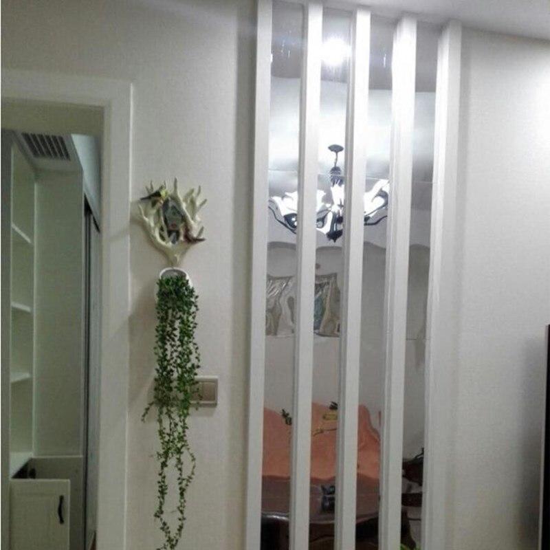 10Pcs 5*20Cm Strip Spiegel Sticker Diy Acryl Taille Lijn Muur Decor Kamer Decoratie Muurstickers Voor kids Kamers Woonkamer