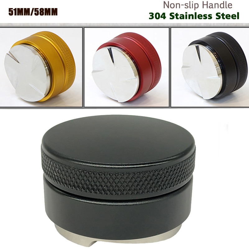 304 Stainless Steel Coffee Tamper 51MM/53MM/58MM Coffee Distributor Coffee Powder Hammer Customized