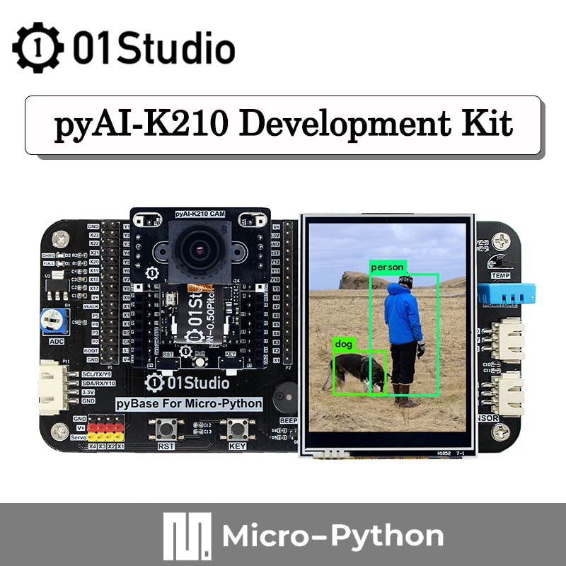 01Studio Sipeed pyAI- K210 Development Board Python AI Artificial Intelligence Machine Vision Deep Learning Micropython недорого