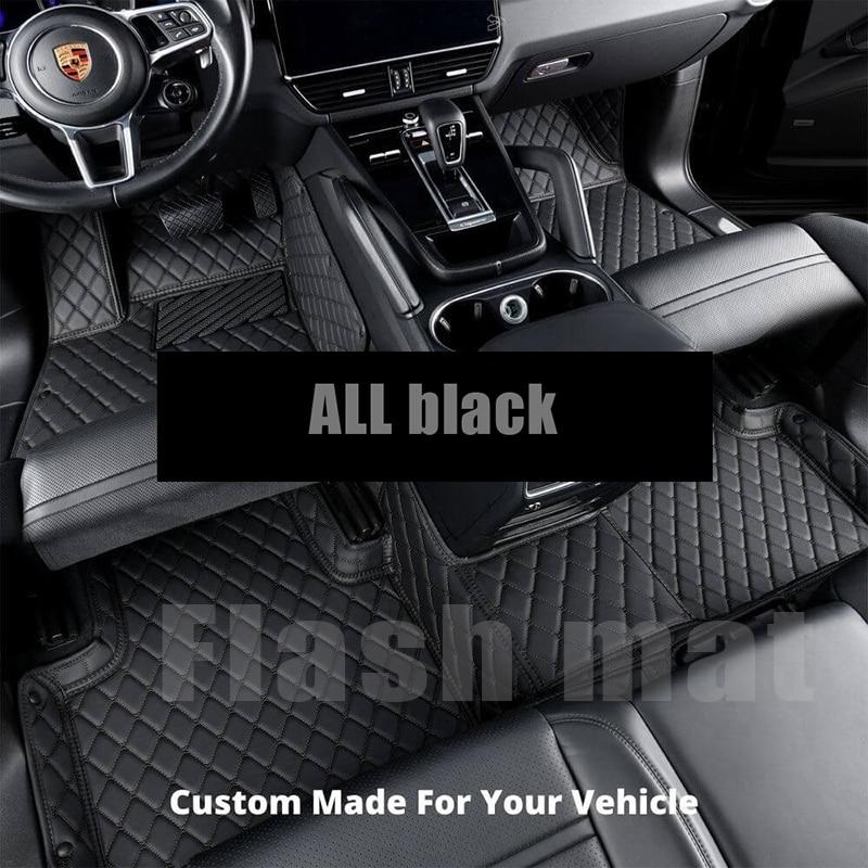 WLMWL مخصص بساط سيارة من الجلد لبورش جميع الموديلات 911 باناميرا كايمان كايين السيارات السجاد غطاء سيارة التصميم