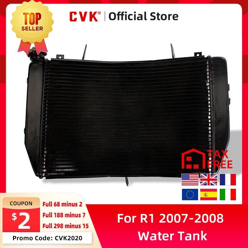 CVK radiador de motocicleta enfriador tanque de agua de refrigeración para Yamaha YZF R1 2007 2008 YZF1000 YZFR1 YZF-R1 07-08 accesorios de aluminio
