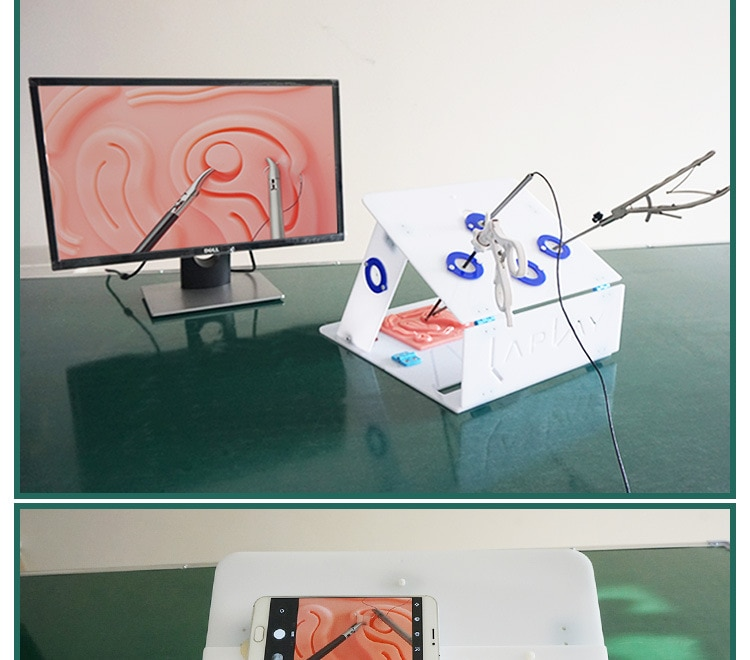 صندوق تدريب الجراحة بالمنظار ، معدات المحاكاة الجراحية ، أداة تدريب عالية الجودة