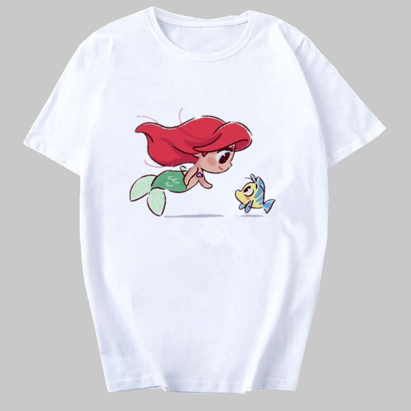 2020 New Vogue Harajuku Funny Cartoon T Shirt Women Ullzang Princess Kawaii Cute Graphic Fashion 90s Top Tees Female T-shirts