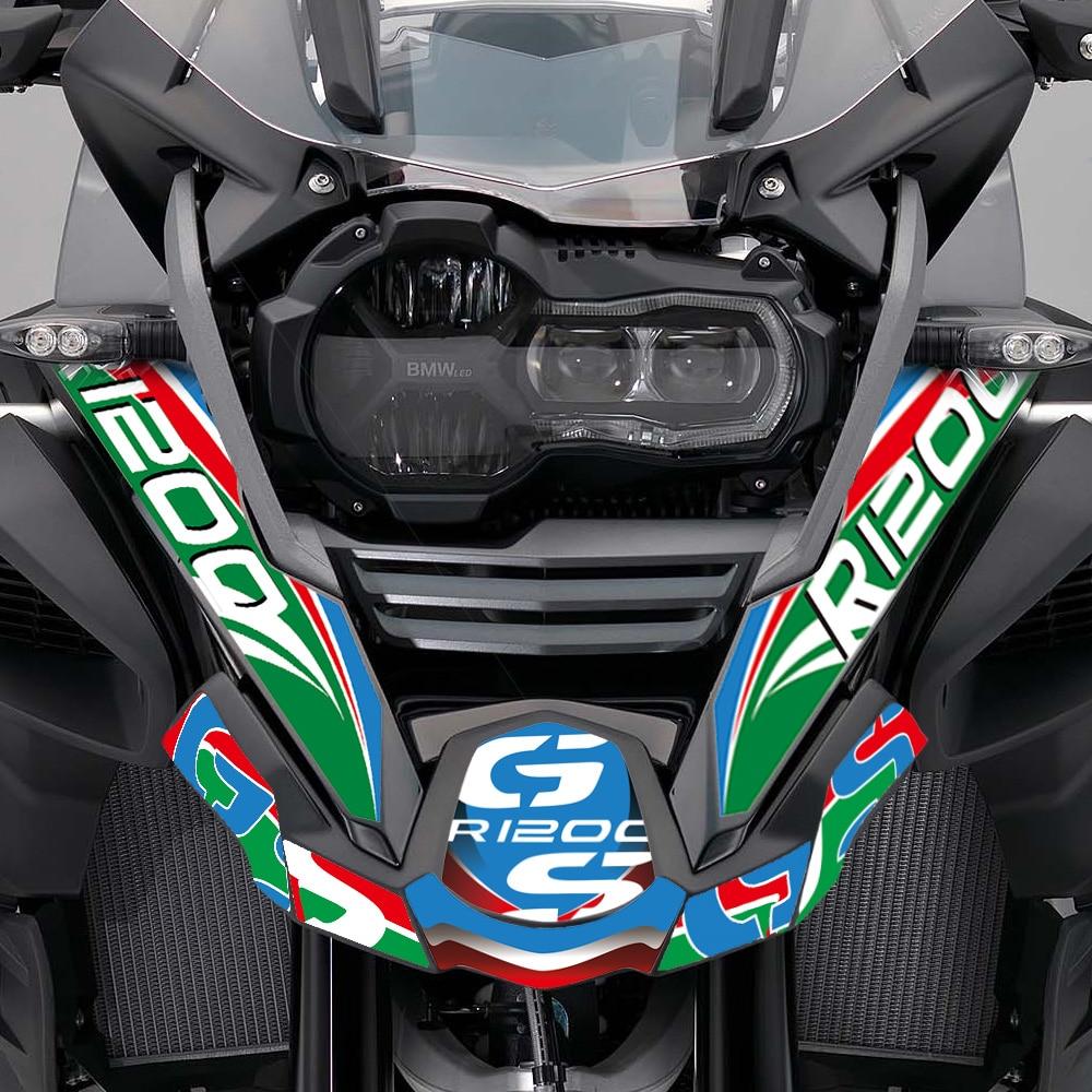 La motocicleta de R1200GS R 1200 GS ADV para BMW aventura frente romper Fender Mudguar Shell cuerpo Film impreso pegatinas de calcomanías