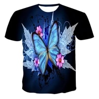 new cool t shirt malefemale 3d t shirt printing animal butterfly short sleeved summer top t shirt beautiful t shirt male top