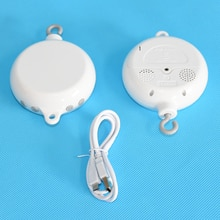Baby Rotary Rattles Toys 0-12 Months Battery-Operated Baby Mobile Crib Bed Bell Toy Music Box Toy Ho