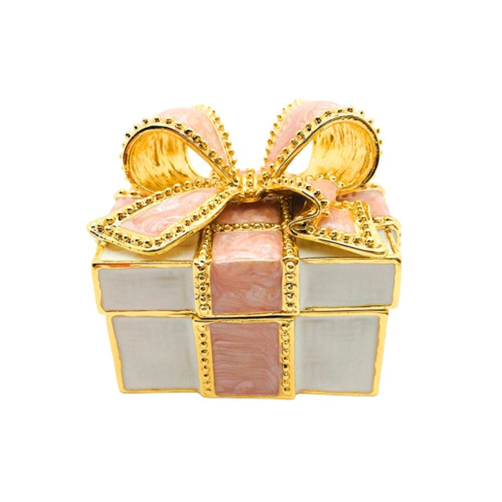 Шкатулка для драгоценностей с бабочкой, декоративная шкатулка для ювелирных изделий из драгоценных камней, металлическая шкатулка для укр...