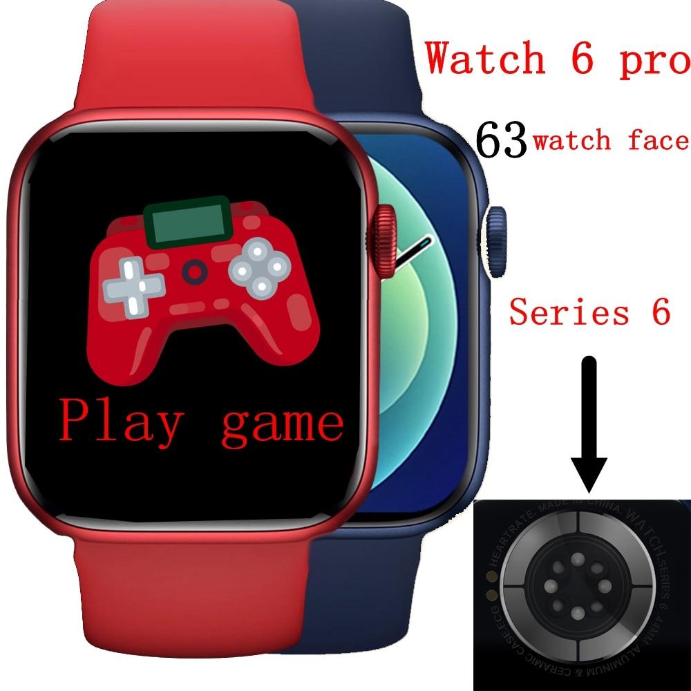 Iwo relógio 6 pro inteligente relógio feminino ak76 chamada bluetooth jogo monitor de saúde masculino relógio inteligente pk x16 w46 w26 relógio inteligente