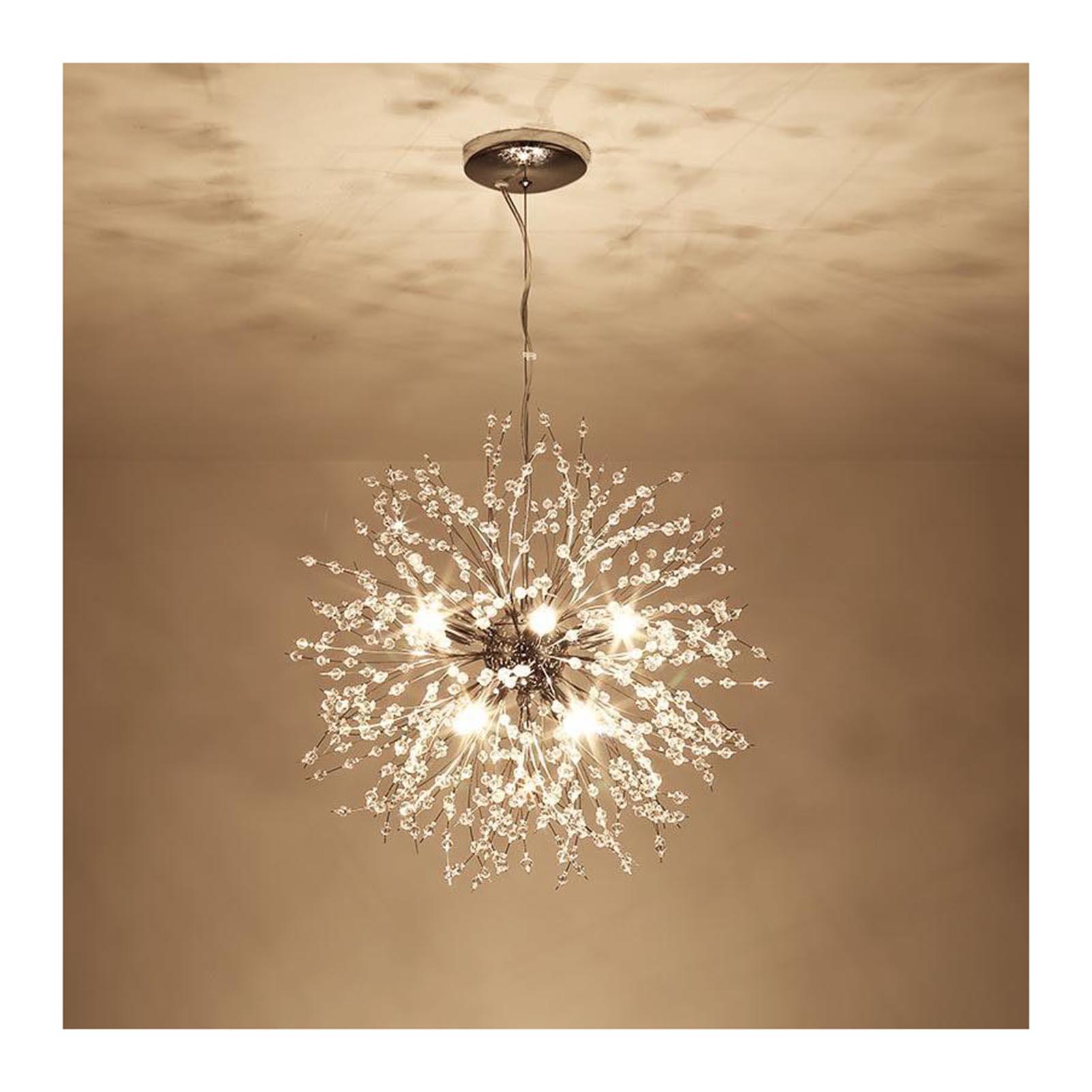 الإبداعية الهندباء الثريا الكريستال أضواء الثريا LED معلقة مستديرة الحديثة قلادة ضوء لغرفة الديكور PR