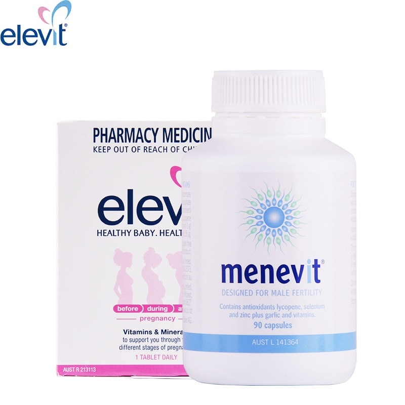 Elevit Pregnancy Multivitamin Supplement for Women Men Trying to Conceive Pregnant Breastfeeding Support Baby Brain Function