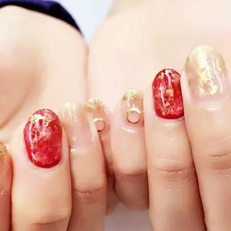 Gold Glitter Flakes Irregular Aluminum Foil Sequins Powder Manicure Nail Chrome Decorations Art Winter For Nails Y5Z5