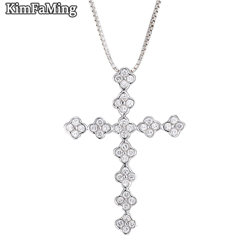 Exquisite Women Authetic 925 Silver Pendant Neckalces Famale Precious Jewellery  Accessories Cross Casual Gift Fine Jewelry P106