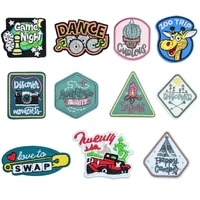 50pcslot embroidery patches letters clothing decoration accessories weird stuff diy iron heat transfer applique punk clothes