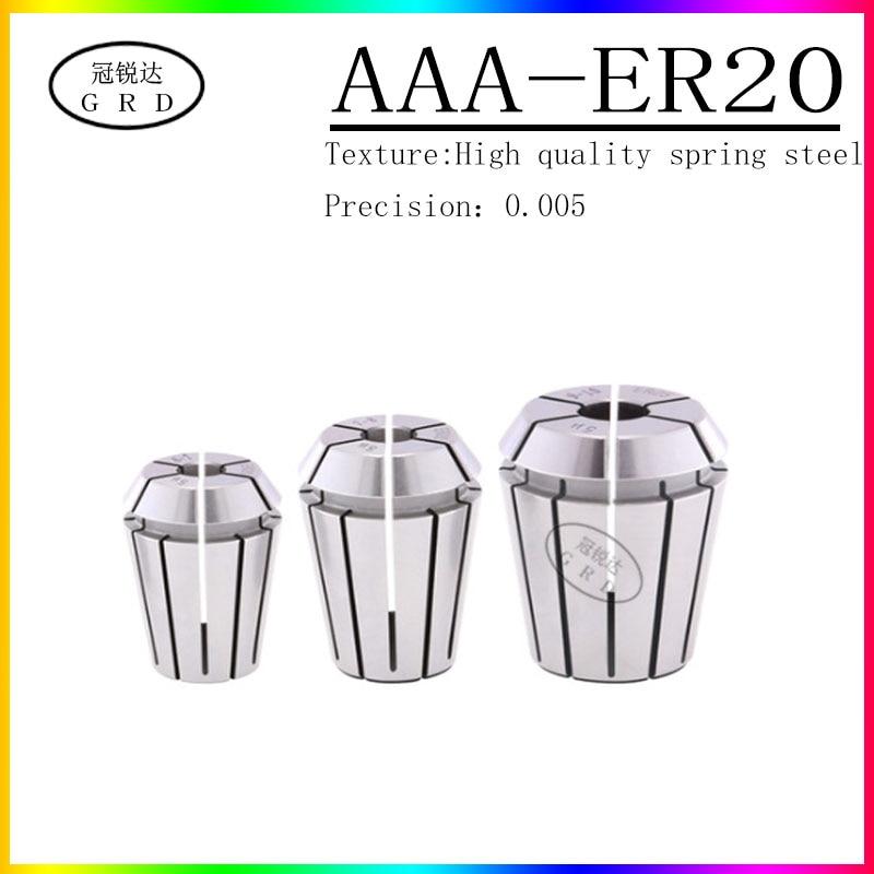 Soporte de herramienta de alta precisión grado AAA ER20 máquina de grabado soporte de barril ER20 bloqueo 1-13mm precisión 0.005