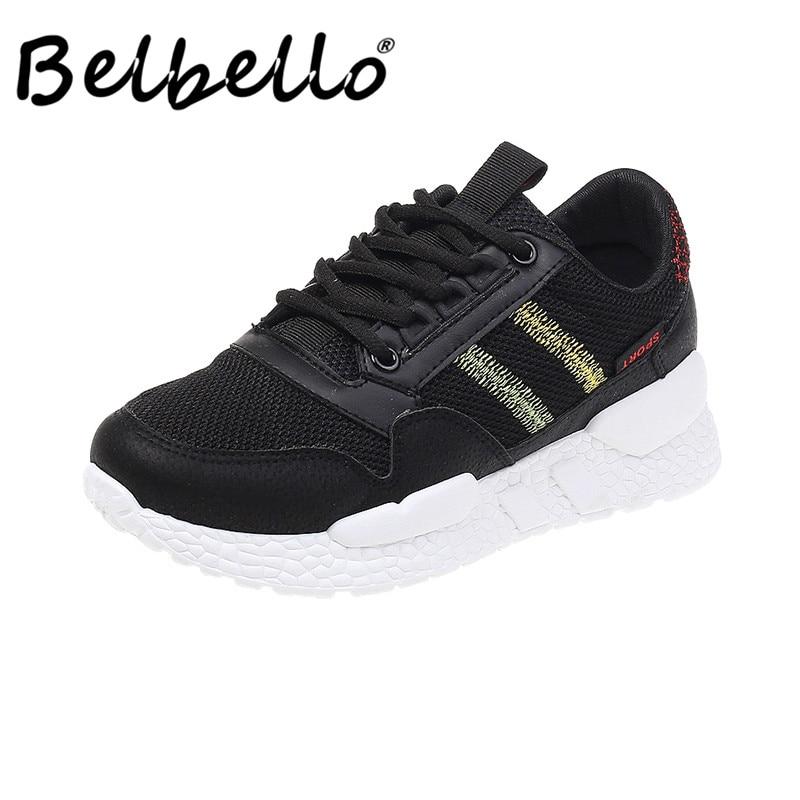 Belbello-أحذية رياضية مقاومة للانزلاق ومسامية ، أحذية رياضية نسائية ، نمط جديد ، مجموعة الخريف