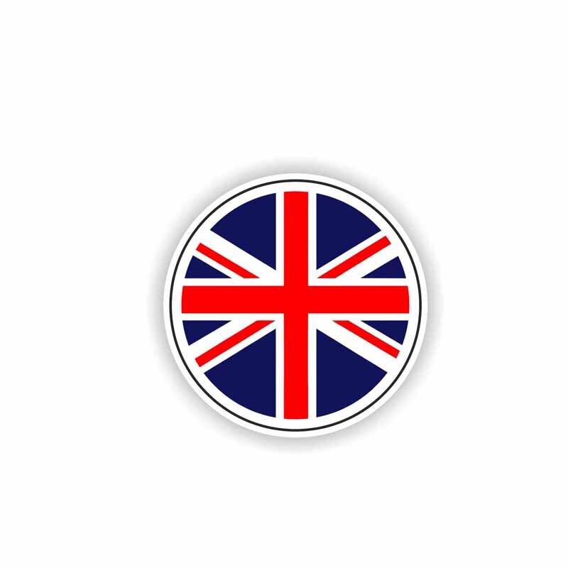 Купить с кэшбэком 15cmx15cm Creative british flag Vinyl Car stickers Decals Motorcycle Accessories Car-Window Decorative Goods PVC