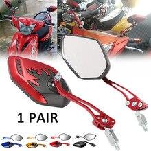 Rétroviseurs arrière universels de moto   Ensemble de 2 pièces/ensemble de moto à Rotation de 360 degrés moto miroirs latéraux de Scooter 8 / 10mm